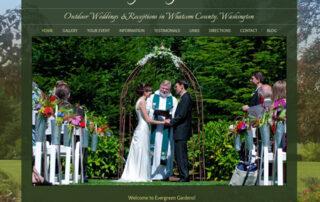 Evergreen Gardens Weddings website by Ritama Web Designs