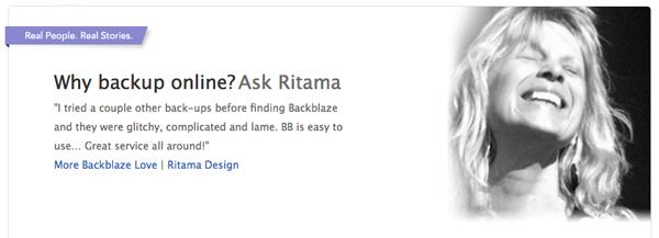 Backblaze Online Storage, Ritama Web Design