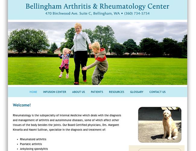 Bellingham Arthritis & Rheumatology Center, Ritama Web Design