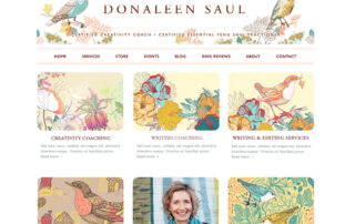 Donaleen Saul's New Website by Ritama Web Design