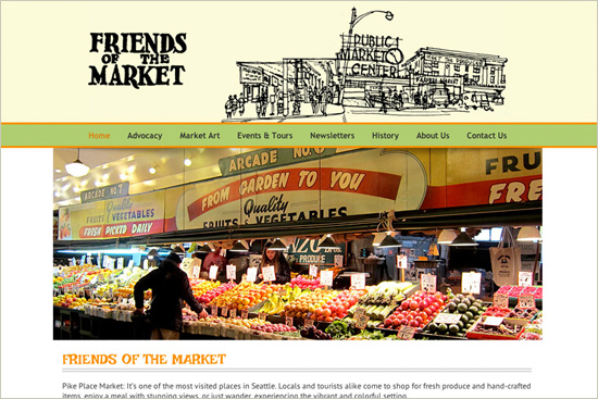 Friends of the Pike Place Market – Ritama Web Design Featured Site