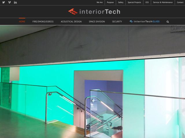 Interior Tech website,  WordPress website, created by Ritama Design