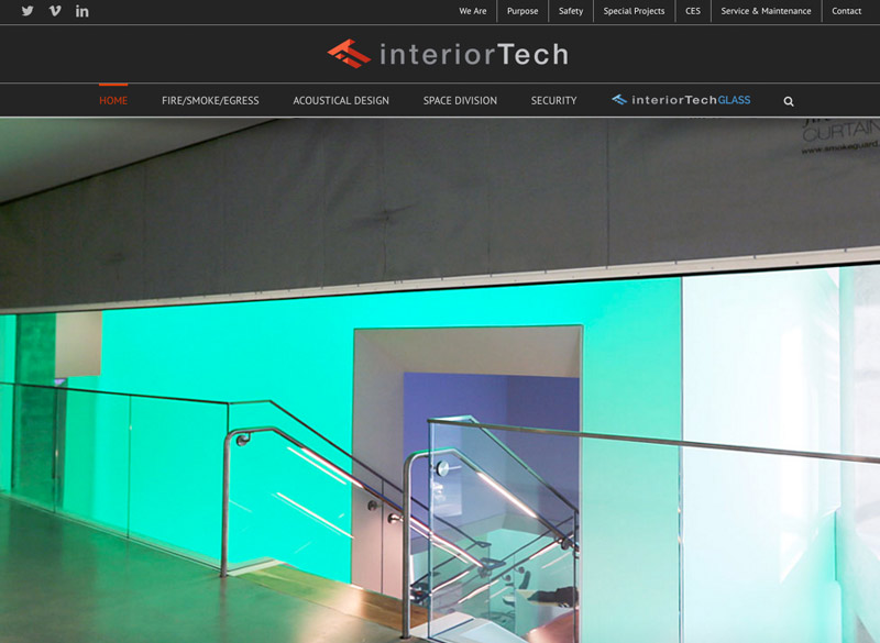 Interior Tech website,  WordPress website, created by Ritama Design