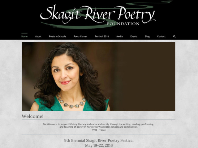 Skagit River Poetry Foundation website,  WordPress website, created by Ritama Design