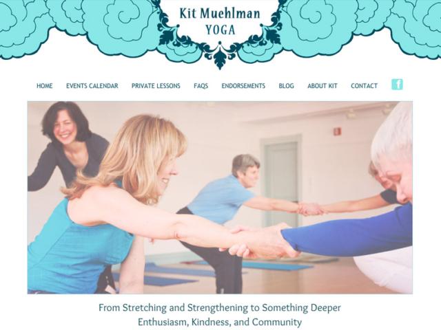 Kit Muehlman, Yoga & Meditation WordPress website, created by Ritama Design