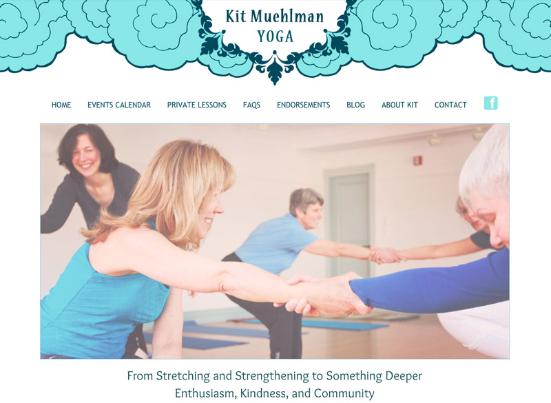 Kit Muehlman, Yoga & Meditation WordPress website, created by Ritama Design
