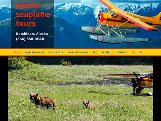 Alaska Seaplane Tours WordPress website, created by Ritama Design