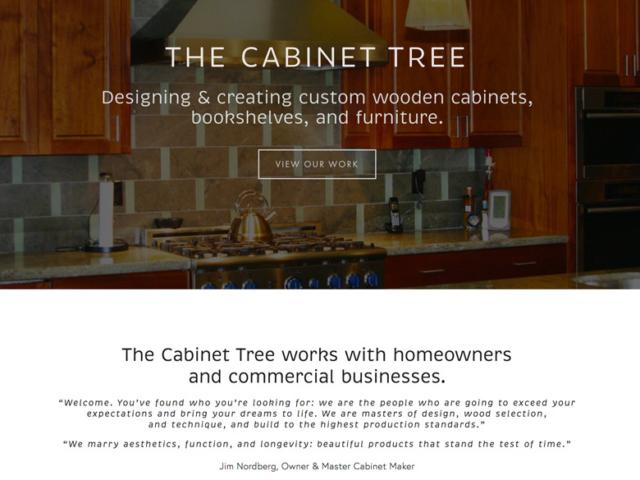 Bay Area Cabinet Tree, created by Ritama Web Design, Seattle