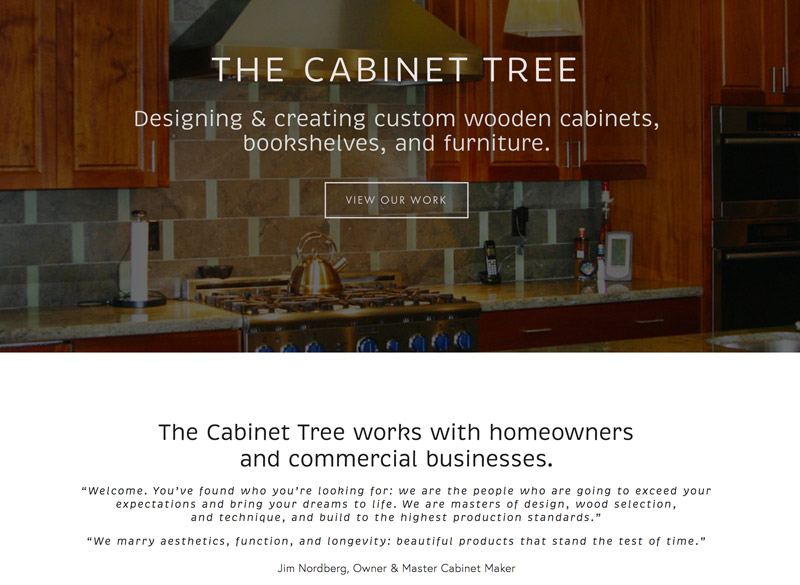 Bay Area Cabinet Tree, created by Ritama Web Design, Seattle