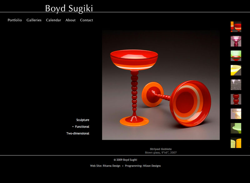 Boyd Sugiki, WordPress website, created by Ritama Design