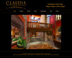 Claudia Interiors, WordPress website, created by Ritama Design