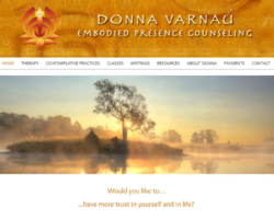 Donna Varnau, Therapist, WordPress website, created by Ritama Design