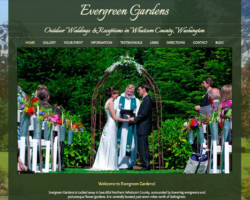 Evergreen Gardens Weddings, WordPress website, created by Ritama Design