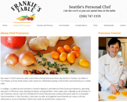 Frankie's Table, WordPress website, created by Ritama Design
