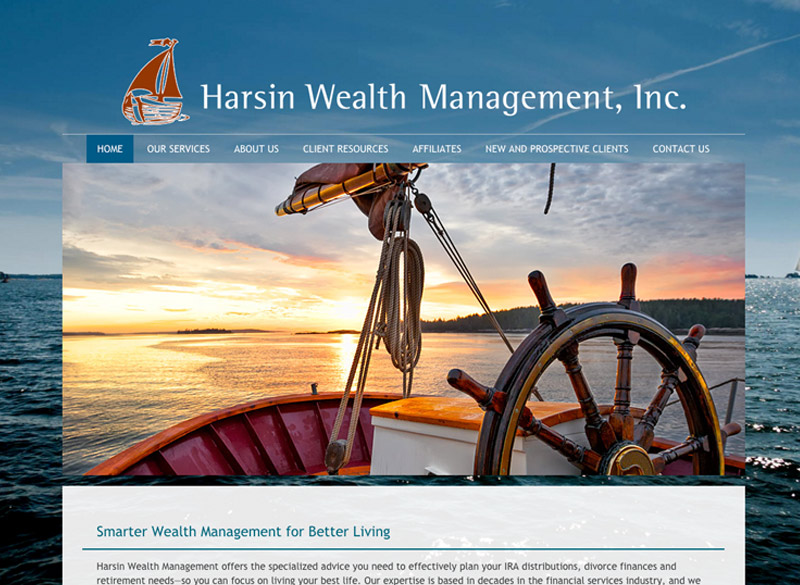 Harsin Wealth Management, WordPress website, created by Ritama Design