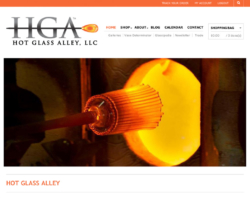 Hot Glass Alley, WordPress website, created by Ritama Design