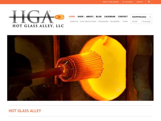 Hot Glass Alley, WordPress website, created by Ritama Design