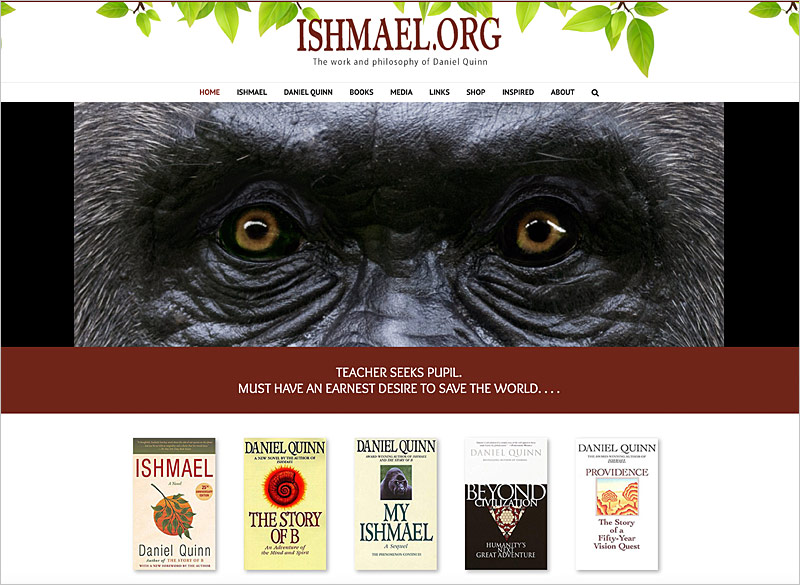 Website for Ishmael.org by Ritama Website Design, Hawaii