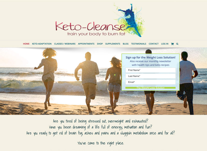 Keto-Cleanse website created by Ritama Web Design