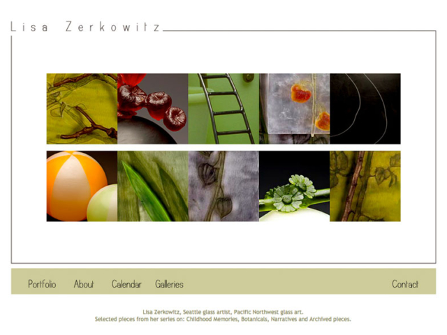 Lisa Zerkowitz, WordPress website, created by Ritama Design