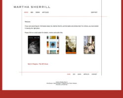 Martha Sherrill, WordPress website, created by Ritama Design