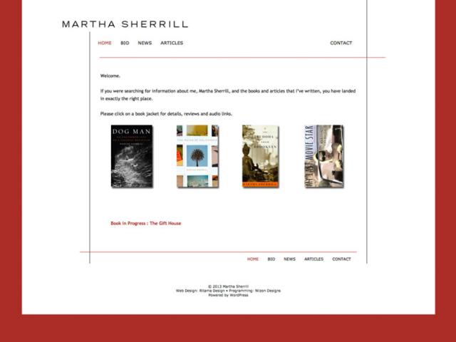 Martha Sherrill, WordPress website, created by Ritama Design