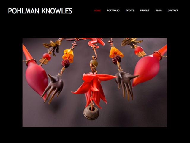 Pohlman Knowles Studio, WordPress website, created by Ritama Design