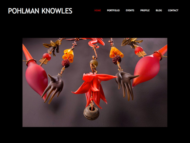 Pohlman Knowles Studio, WordPress website, created by Ritama Design