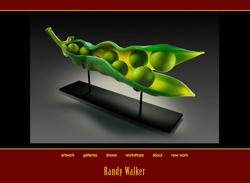Randy Walker Glass, WordPress website, created by Ritama Design