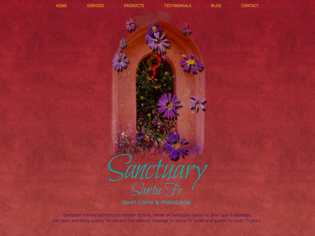 Sanctuary Santa Fe, WordPress website, created by Ritama Design