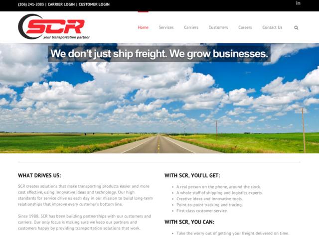 SCR AIR, Freight Transport, WordPress website, created by Ritama Design