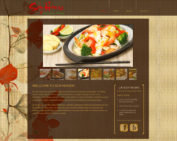 Soy House Vietnamese Restaurant, WordPress website, created by Ritama Design