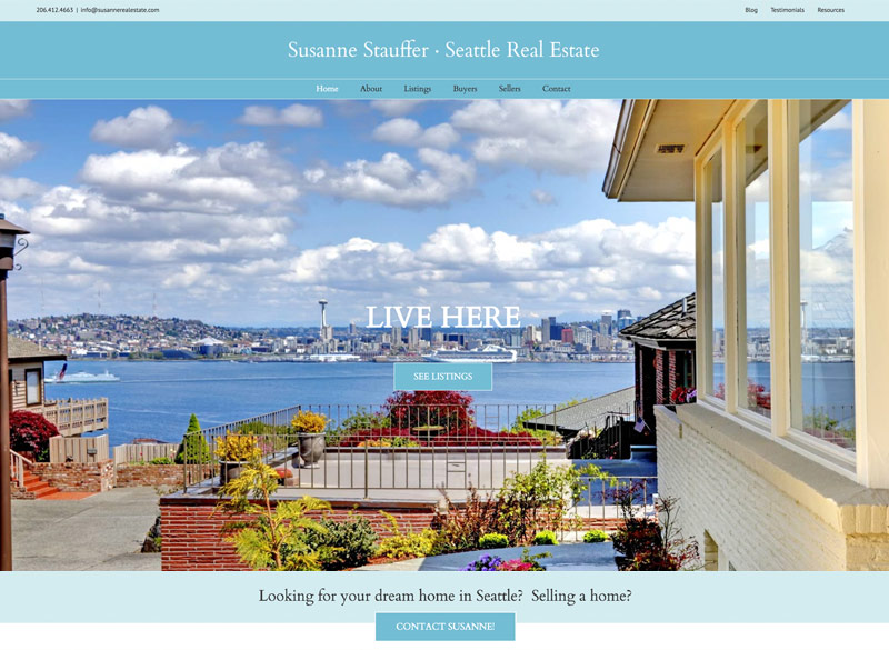 Susanne Stauffer Real Estate website by Ritama Design, Seattle