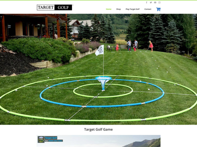 Target Golf Game, created in WordPress.