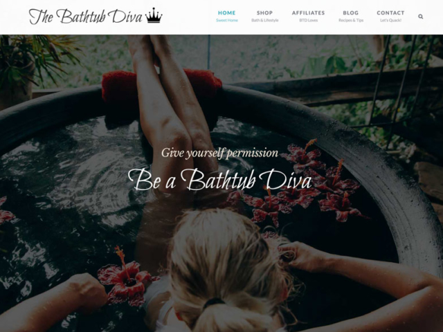 The Bathtub Diva website by Ritama Web Design, Seattle