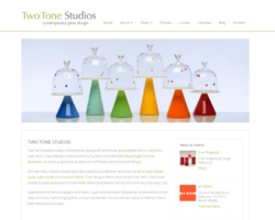 Two Tone Studios, WordPress website, created by Ritama Design