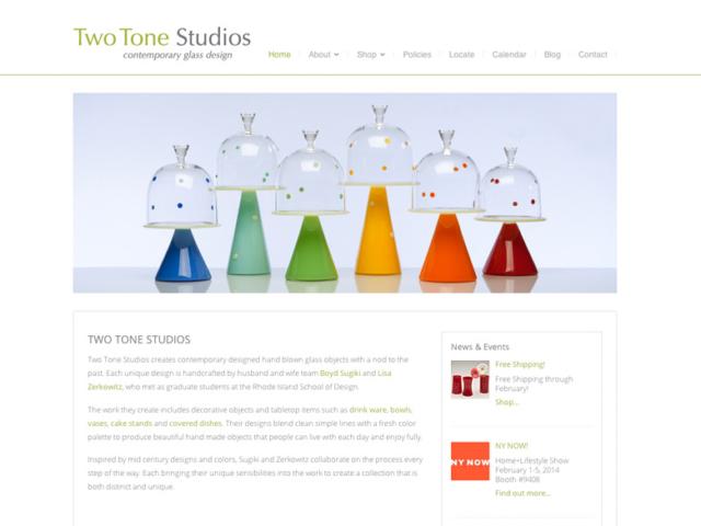Two Tone Studios, WordPress website, created by Ritama Design
