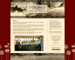 Vital Source Natural Medicine, website by Ritama Design
