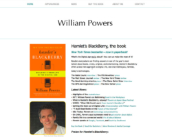 William Powers, WordPress website, created by Ritama Design